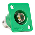 Photo of Connectronics Recessed Panel Mount BNC Barrel 75Ohm Green