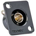 TecNec Recessed Panel Mount BNC Female to Solder Point 75Ohm Green