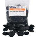 Remote Audio URS FC100BLK URSA Fur Circles for Lavalier Mics - Black - 100 Pack