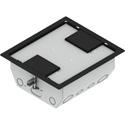 FSR RFL4.5-Q2G-BLKDD 4.5 Inch Deep Back Box with Four 2-Gang Openings - Black Trim