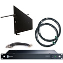 RF Venue DFINBD9 DISTRO9 HDR and Diversity Fin Antenna Bundle - Black Wallmount Version