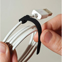 Rip-Tie Mini Q-35-252-BK 1/4 Inch x 3-1/2 Inch Rip-Tie Cable Wraps - 252 Pieces - Black
