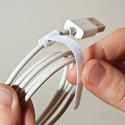 Rip-Tie Mini Q-35-252-W 1/4 Inch x 3-1/2 Inch Rip-Tie Cable Wraps - 252 Pieces - White