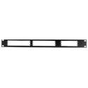 Burst RM-344 Rackmount for (One) Third Wide or (Two) Quarter Wide Units