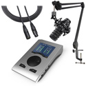 RME BFP-AT RME & Audio-Technica Podcasting Bundle - 1 Mic Stand and Cable