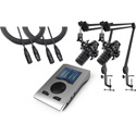 RME BFP-AT2 RME & Audio-Technica Podcasting Bundle - 2 Mics Stands and Cables