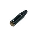 Rean RT4MC-B Tiny XLR 4-Pole Male - Black Shell Gold Contacts