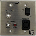RAPCO AVP1-STS Audio Visual Passive Interface Wallplate