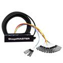 Rapco Horizon Stagemaster Series SMC1604FBX-100 16x4 100 foot XLR Audio Snake 16 XLR male ins 4 Female XLR Returns