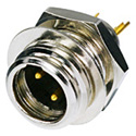Rean RT3MP Rean Tiny 3-Pole Male Black/Gold Chassis XLR Connector
