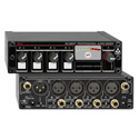 RDL RU-MX4T Professional 4 Channel Microphone/Line Mixer w/ Phantom Power & Transformer - Mic & line output