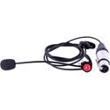 Riedel RUN-E1L (XLR4F) Monaural (Left Ear) Electret Headset with XLR4F Connector