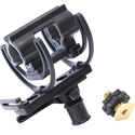 Rycote 37340 Universal Shotgun Mount for Cameras and Boom Poles - Includes 3/8 Inch Brass Show Adaptor