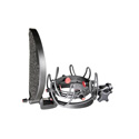 Rycote 45005 InVision Studio Kit-VB - Includes USM-VB Studio Mount and Pop Filter - 55-68mm Mics