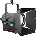 Rayzr 7 200 Daylight Premium Pack - Rayzr 7 200w Daylight (5600K) 7 Inch LED Fresnel Light 4-Leaf Barn Door - PS & Case