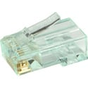 Simply45 S45-1600 Unshielded PassThru RJ45 Mod Plugs For Solid Cat6 UTP And Stranded Cat5e/6 UTP - 100pc