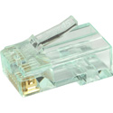 Simply45 S45-1601 Unshielded PassThru RJ45 Mod Plugs For Solid Cat6 UTP And Stranded Cat5e/6 UTP - 50pc