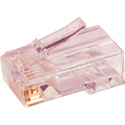 Simply45 S45-1700 Unshielded PassThru RJ45 Mod Plugs For Solid Cat6/6a UTP - Hi/Lo Stagger load bar 100pc