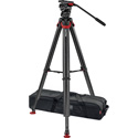 Sachtler 0465 System FSB 6 Touch&Go with Flowtech75 Carbon Fiber Tripod with Mid-Level Spreader & Rubber Feet