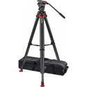 Sachtler 0765 System FSB 8 Touch&Go with Flowtech75 Carbon Fiber Tripod with Mid-Level Spreader & Rubber Feet