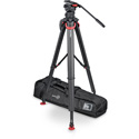 Sachtler System FSB 10 T Fluid Head (S2046-0001) + Tripod Flowtech 100 MS w/ Mid-Level Spreader and Rubber Feet