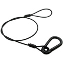 Photo of 30 Inch Black Safety Cable w/ 5/16 Inch Springhook