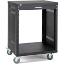Photo of Samson SRK12 12-Space 18-Inch Deep Universal Equipment Rack with Casters