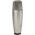 Samson C01U Pro USB Large Diaphragm Condenser Microphone with Peak LED Headphone Output