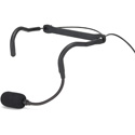 Samson QEX Fitness Headset Microphone - 1/8 Inch (3.5mm) - Hirose 4-Pin with Switchcraft TA3F and TA4F Cables