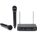 Samson SWS212HH-E Stage 212 Dual Vocal VHF Frequency Agile Wireless System (2) Q6 Dynamic Mics (VH212-Q6 x 2/SR212)
