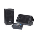 Samson XP800B Portable PA 8 Inch 2 Way Monitors with Removable 8-Channel Powered Mixer 2x400 watts with Bluetooth