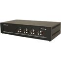 Smart AVI SM-DVN-44X DVI-D Matrix KVM Switch with Audio and USB 2.0 Support (4 Users) - 4 Port