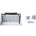 SpaceBox SBLED-STKT4-120-D LED Studio Four Kit - Daylight Only - 120V