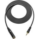 Sescom SC25T3MZLK TRS 3.5mm Locking Plug to 3-pin Mini XLR Analog Audio Cable- 25 Foot