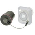 Neutrik SCNO-FDW-A Protection Cover for D-series opticalCON Receptacles - Black