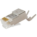 SCP 106A CAT6A Shielded & CAT6 Shielded 23 AWG RJ45 8P8C Modular Plugs with Load Bar - 100/bag
