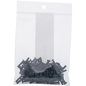Connectronics 4-40 x 1/2 Flat Head (Countersunk) Screws for Chassis Mount Connectors - 100 Pack - Black