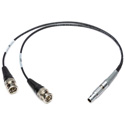 Laird SD-TCD2-01 Sound Devices Time Code Jamming Cable Lemo 5-Pin Male to BNC In & BNC Out - 1 Foot