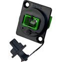 Senko UBC-231 SC Simplex Multimode APC Panel Mount Fiber Optic Adapter - Green