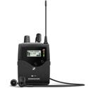 Sennheiser EK IEM G4-G Stereo Bodypack Receiver with (1) Pair of IE4 Earbuds (566 - 608 MHz)
