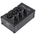 Sescom SES-3MIX 3-Channel Passive Mixer - Combo-Jack Inputs with Independent Level Control to XLR and 1/4 Inch Outputs