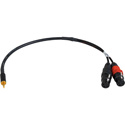 Sescom SES-43DB-MZ2XJ 3.5mm TRS to XLR with 43dB Pad DSLR Attenuating Line to Mic Level Cable - 18 Inch