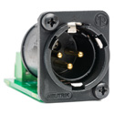 Sescom SES-ACON-1031 3-Pin XLR Male to 3-Position Fixed Screw Terminal Block PCB-Mounted Audio Adapter