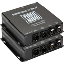 Sescom SES-X-FA2LXBT01 Audio over Fiber EXTENDER- 2 CH Balanced XLR Bi-Directional Line Level Audio & ST Fiber Connect
