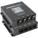 Sescom SES-X-FA4LXT01 Audio over Fiber EXTENDER: 4 CH Balanced XLR Line Level Audio & ST Fiber Connection