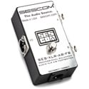 Sescom SES-XLR-AB-FS Balanced Audio Passive XLR A/B Footswitch with Toggle Switch for Disconnect