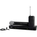 Shure BLX1288/CVL-H11 Dual Channel Lavalier & Handheld Combo Wireless System - J11 584-595 MHz