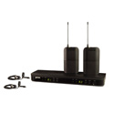 Shure BLX188/CVL-H9 Dual Channel Lavalier Wireless System - H9 Band -  (512-542 MHz)