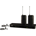 Shure BLX188/CVL-H10 Dual Channel Lavalier Wireless System - H10 Band 542 to 572 MHz