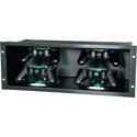 Mid-Atlantic SH-DMP-A Black Brushed Anodized 4RU  Media Player Shelf